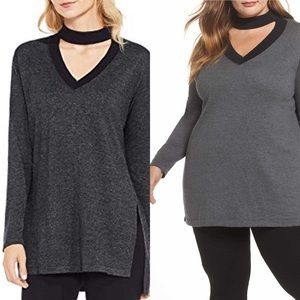 Vince Camuto Chocker Neck Sweater